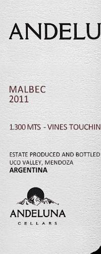 Andeluna 1300 Malbec, Uco Valley 2019